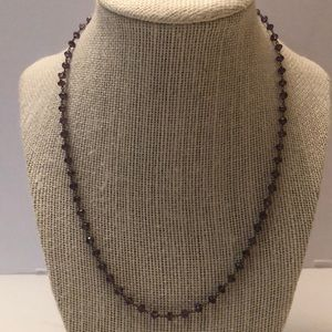 Vintage amethyst bead necklace